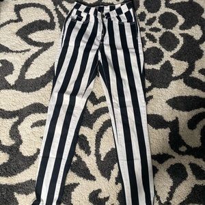 STRIPPED STRETCHY JEANS
